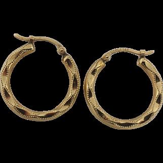 14k Gold Hoop Earrings by Carla