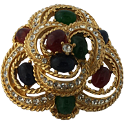 Vintage Ciner Moghul , Jewels of India Brooch