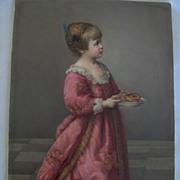 1870 Large KPM Plaque Little Girl