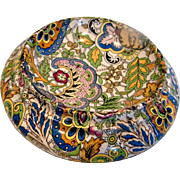 English Staffordshire Chintz Teabag Holder c 1920 - 1930