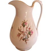 "French Haviland Limoges 12"" Wash Pitcher Moss Rose c 1868 – 1876"