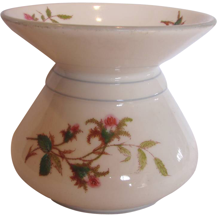 French Haviland Limoges Cuspidor Spittoon Moss Rose c 1876 – 1880