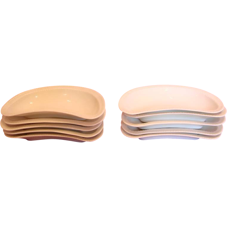 French Haviland Limoges Set Ten Bone Dishes All White Blank 6 c 1893-1930