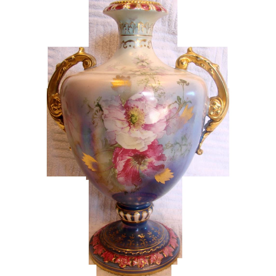 Vintage  Germany Hand Painted Vase