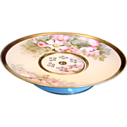 "Japanese Nippon Berry Serving Bowl 10"" w Reticulated Insert Hand Painted Cherry Blossoms c 1900"