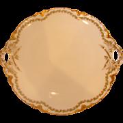 French Haviland Limoges Cake Plate Serving Platter Clover Leaf 98 c 1894 to 1930