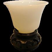Chinese Peking White Art Glass Miniature c 1890 - 1910