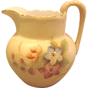 English Royal Worcester Hand Painted Miniature Jug Vase or Toothpick Holder c 1903-1904
