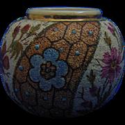Zsolnay Hungary Tapestry Vase/Match Safe (c.1868-1876)