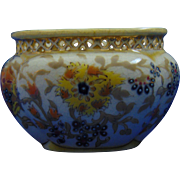 Zsolnay Hungary Reticulated Floral Design Cachepot/Vase (c.1878-1900)