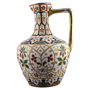 "Royal Bonn Islamic Motif  ""Jaypora"" Tapestry Pitcher/Ewer (c. 1890's)"
