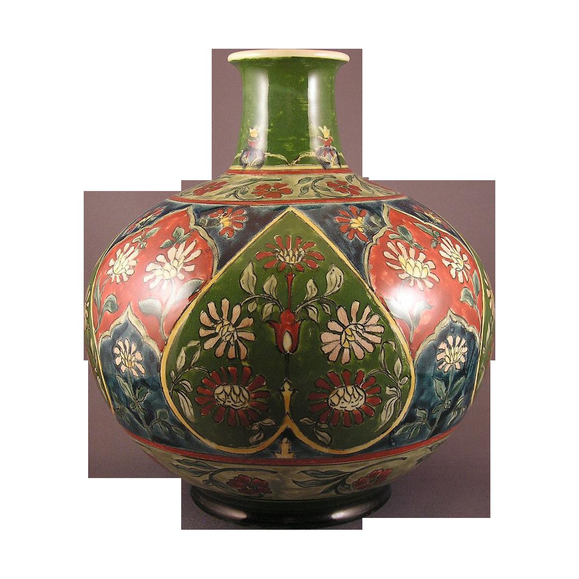 "Royal Bonn Germany Art Nouveau ""Old Dutch"" Vase (c.1890-1923)"