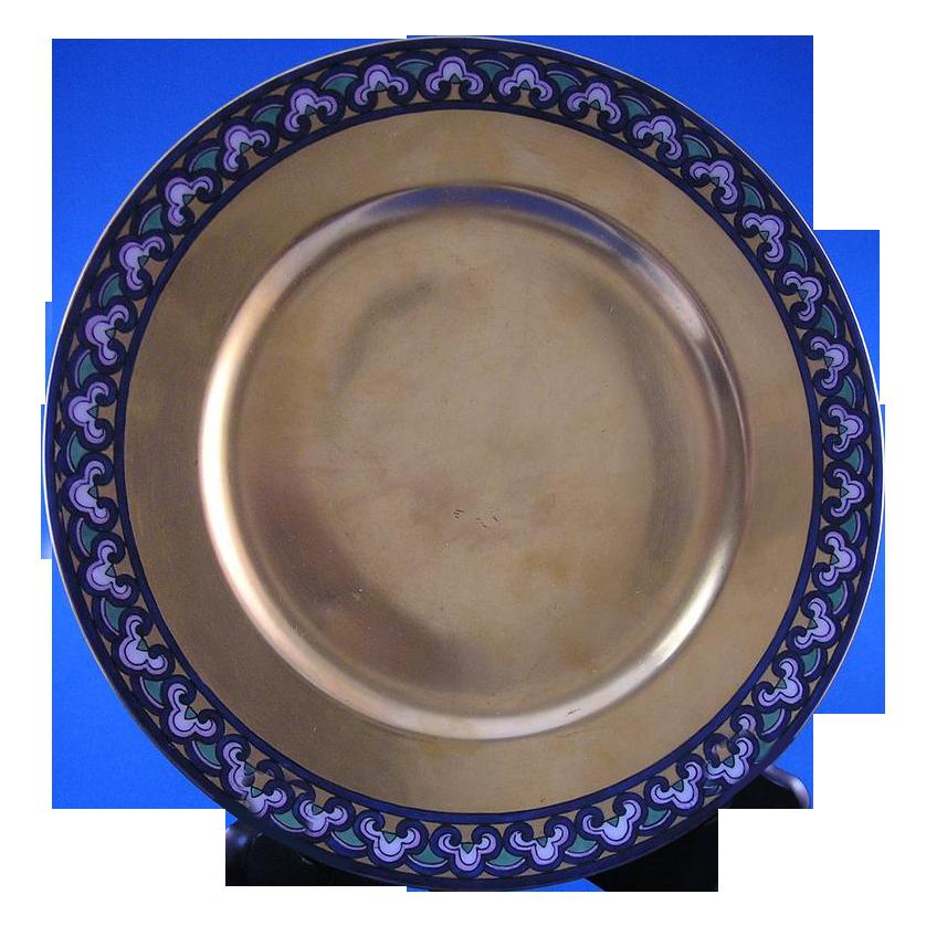 """D&Co Limoges Art Nouveau Gold Plate (Signed """"ESP""""/c.1894-1900)"""