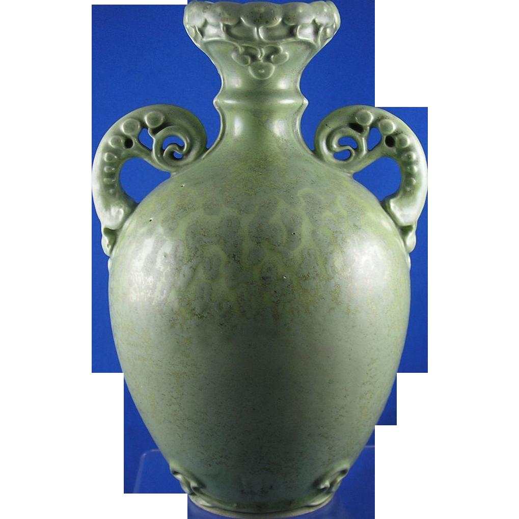 Amphora Austria Organic Motif Handled Vase (c.1890-1905)