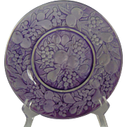 "Consolidated Glass Martele ""Five Fruits"" Design Purple Wash Plate (c.1920's)"