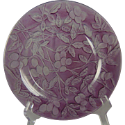 "Consolidated Glass Martele ""Olive"" Design Purple Wash Plate (c.1920's)"