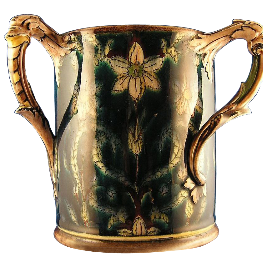 "Royal Bonn Germany Art Nouveau ""Old Dutch"" Handled Vase (c.1890-1923)"