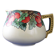 Favorite Bavaria Arts & Crafts Apple Motif Pitcher (c.1920's)