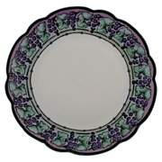 Rosenthal Bavaria Art Deco Grape Motif Plate (c.1910-1930) - Keramic Studio Design