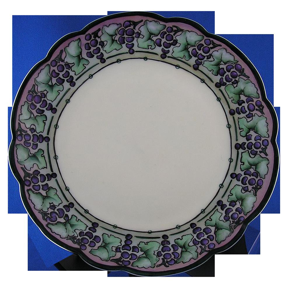Rosenthal Bavaria Art Deco Grape Motif Plate (c.1910-1930)