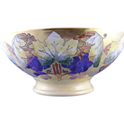 Plainemaison Limoges Arts & Crafts Grape Motif Centerpiece/Punch Bowl (c.1890-1910)