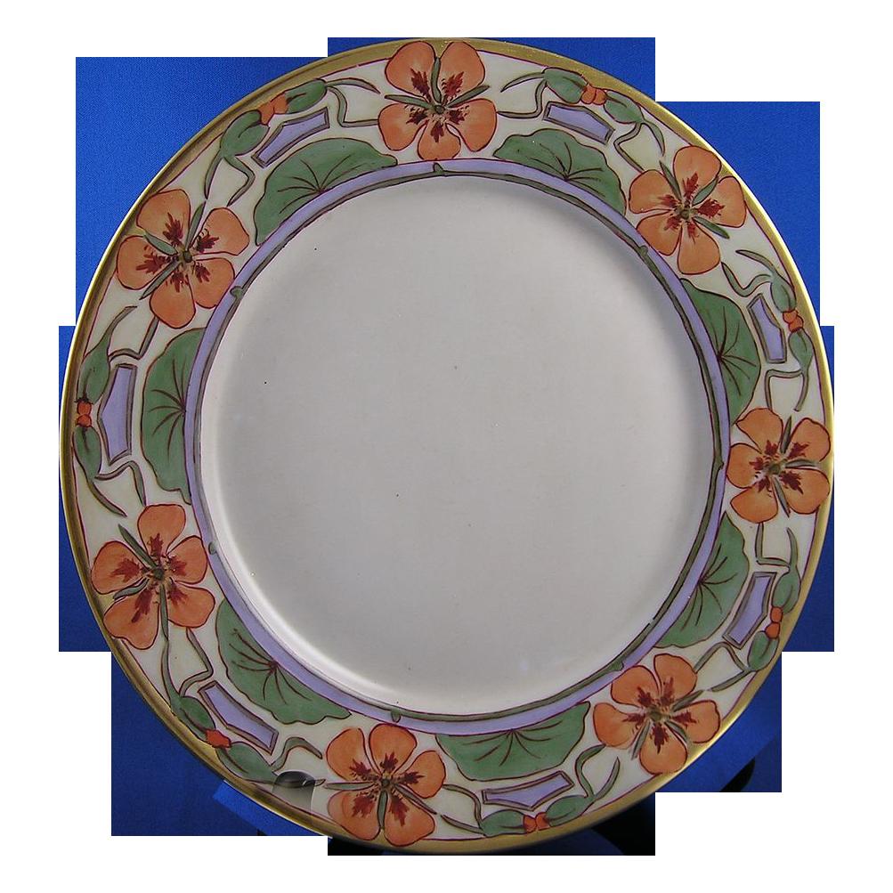Haviland Limoges Art Nouveau Nasturtium Plate (c.1894-1931)
