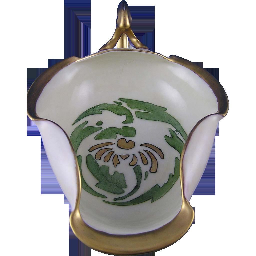 """T&V Limoges Art Deco Handled Serving Dish (Signed """"AM""""/c.1913-1930) - Keramic Studio Design"""