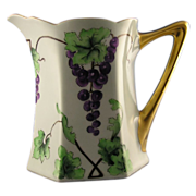Bavarian Arts & Crafts Grape Motif Pitcher (c.1900-1930)