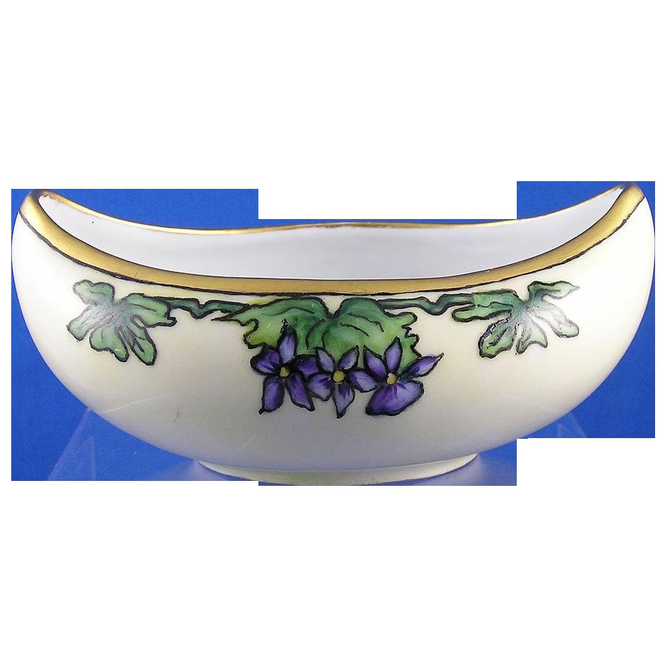 Uno Bavaria Arts & Crafts Violet Motif Dish (c.1900-1930)