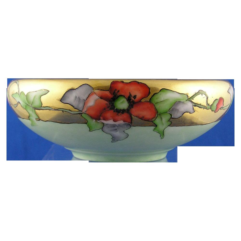 Uno Bavaria Arts & Crafts Poppy Motif Bowl (c.1900-1930)