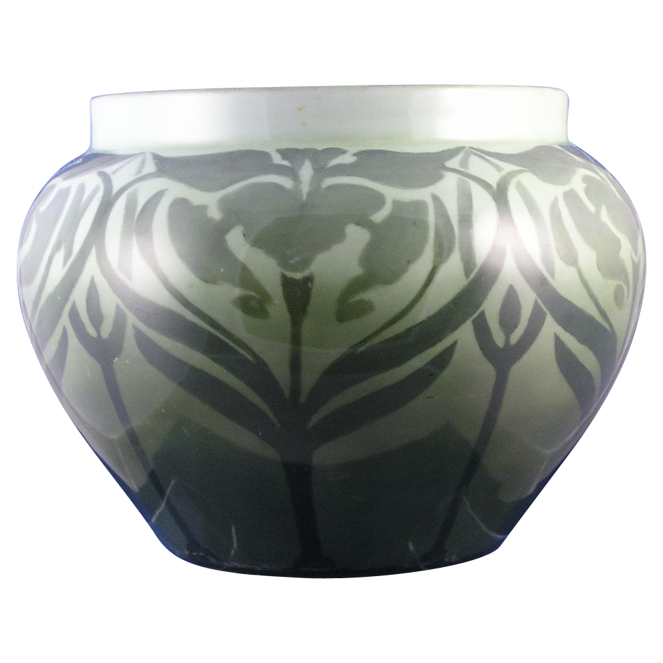 LARGE Delinieres & Co. (D&Co.) Limoges Art Nouveau Jardinière/Vase (c.1894-1920)