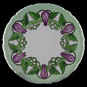 Jean Pouyat (JP) Limoges Floral & Vine Motif Plate (c.1890-1932)
