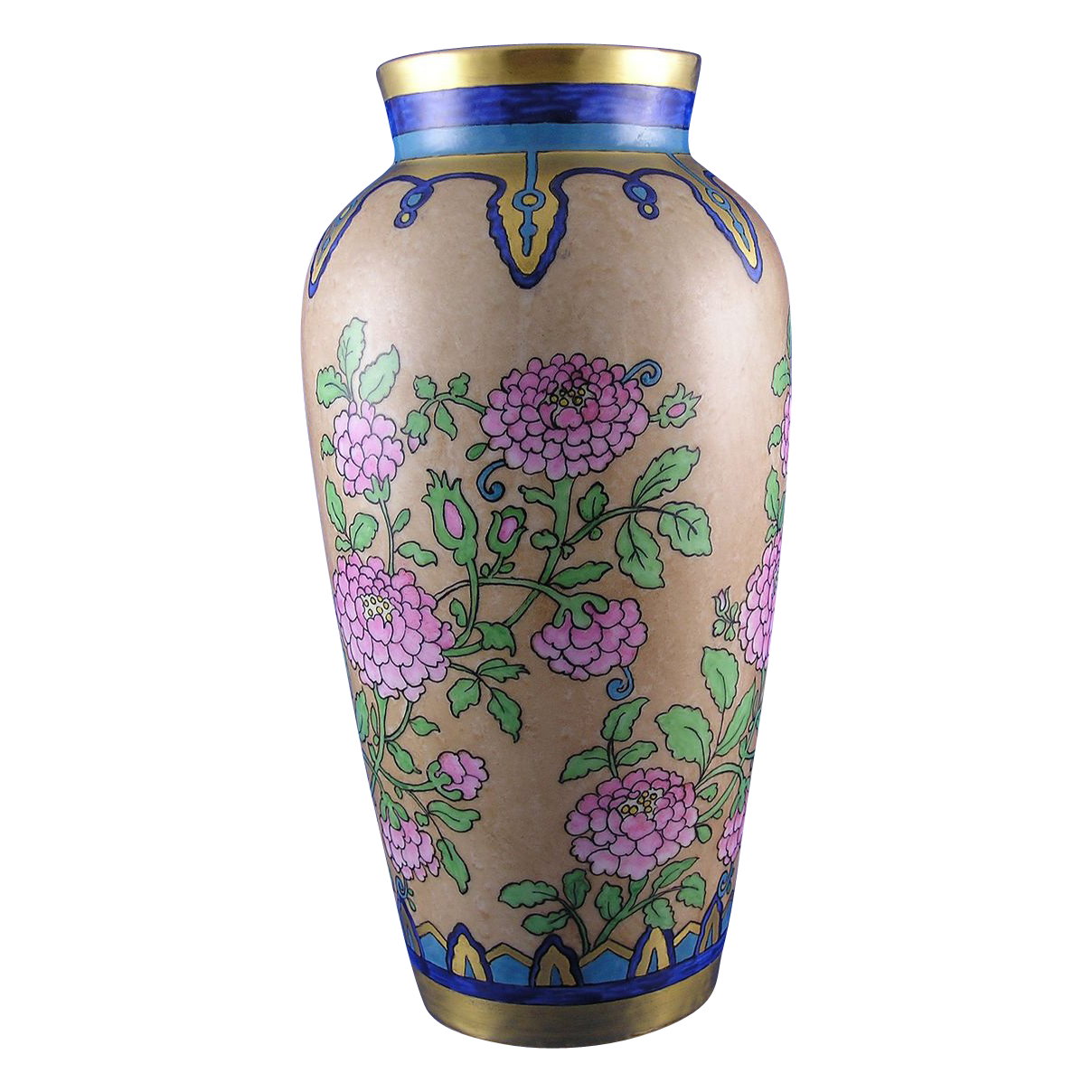 Heinrich & Co. (H&Co.) Bavaria Arts & Crafts Floral/Zinnia Design Vase (c.1896-1940)