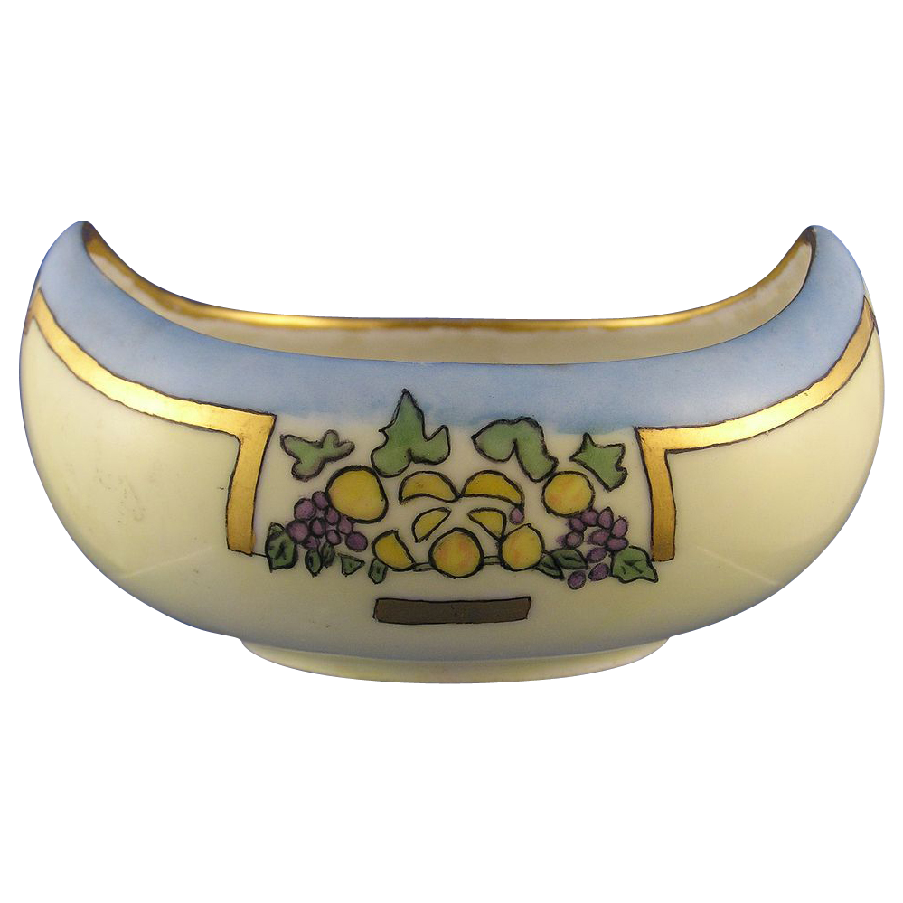 "Bavaria/Germany Art Deco Fruit Motif Dish (Signed ""Isabel Monstani""/Dated 1915)"