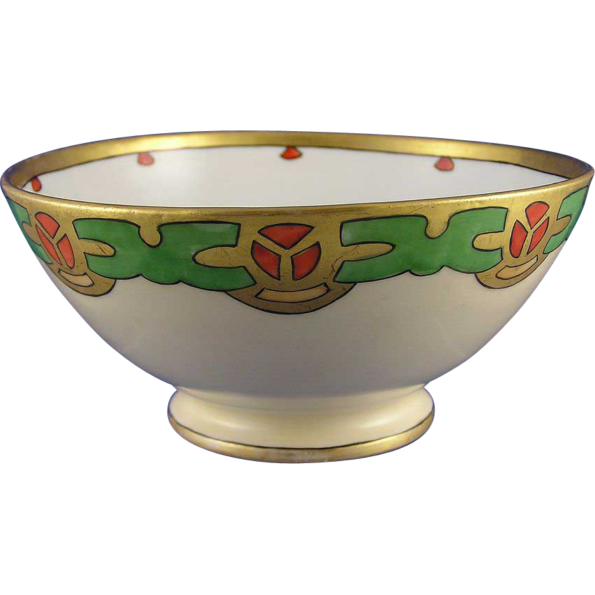 Gerard, Duffraisseix & Abbott (GDA) Limoges Arts & Crafts/Mission Motif Bowl (c.1900-1941)