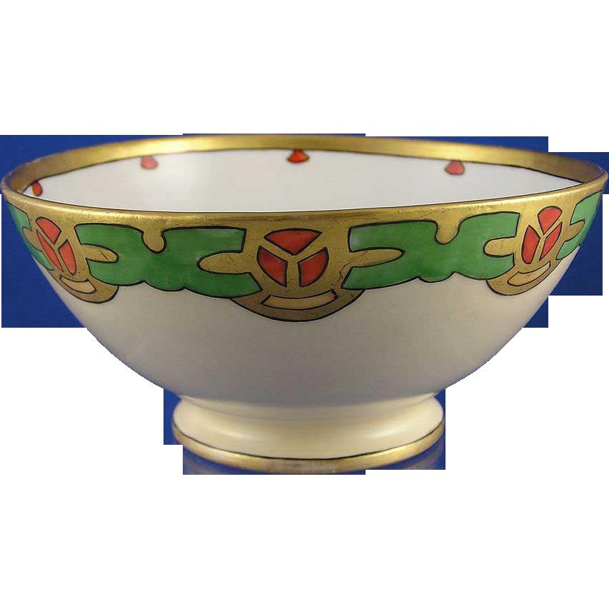 Gerard, Duffraisseix & Abbott (GDA) Limoges Arts & Crafts/Mission Motif Bowl (c.1900-1941)