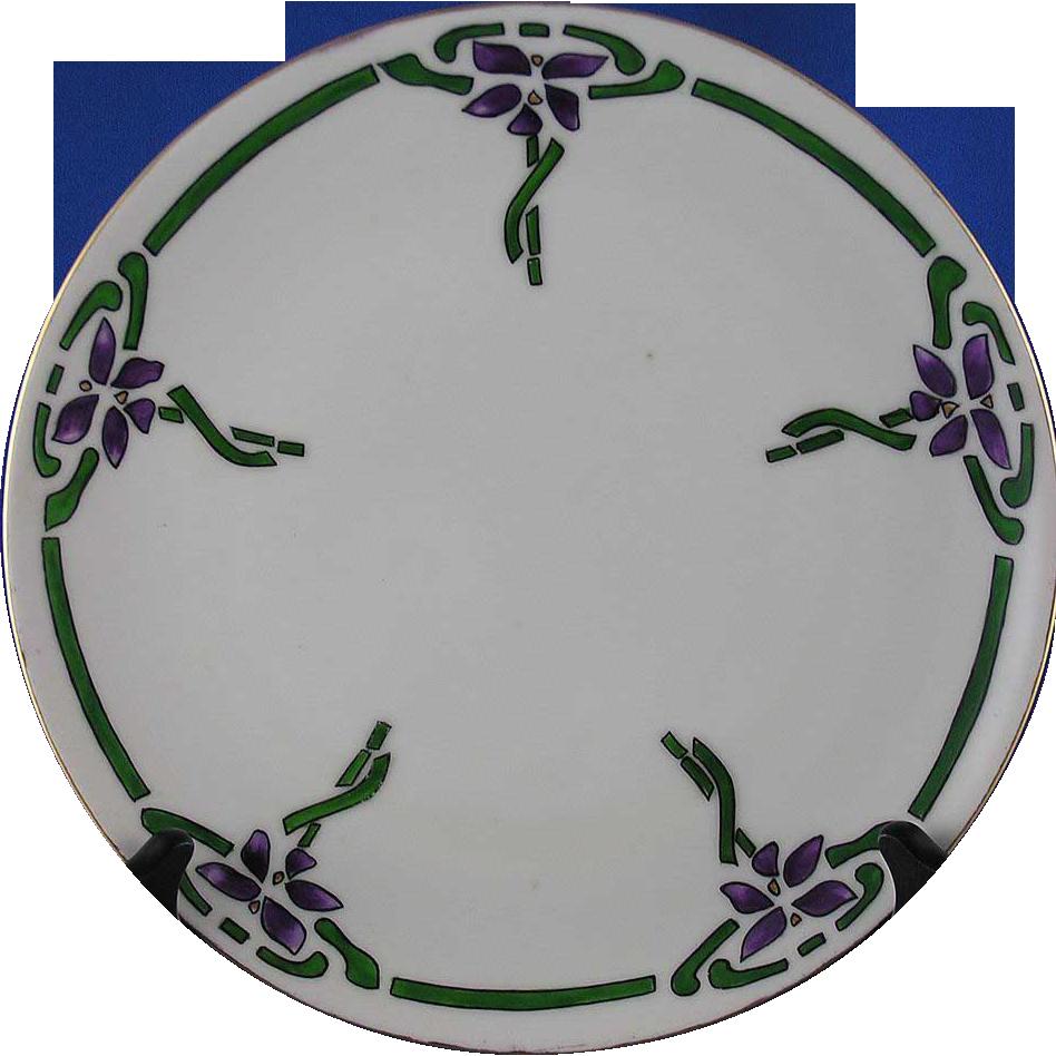 Krister Porcelain Manufactory (KPM) Arts & Crafts Floral Motif Plate (c.1904-1927)