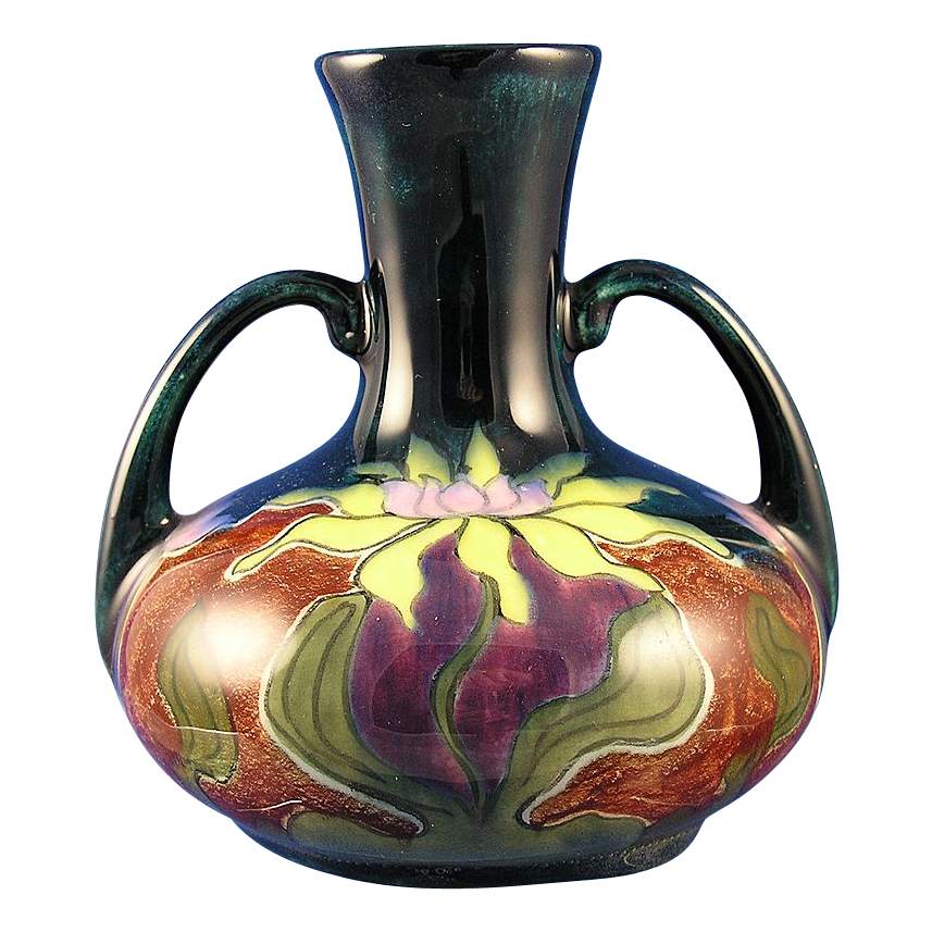 old moravian art nouveau floral motif vase. Black Bedroom Furniture Sets. Home Design Ideas