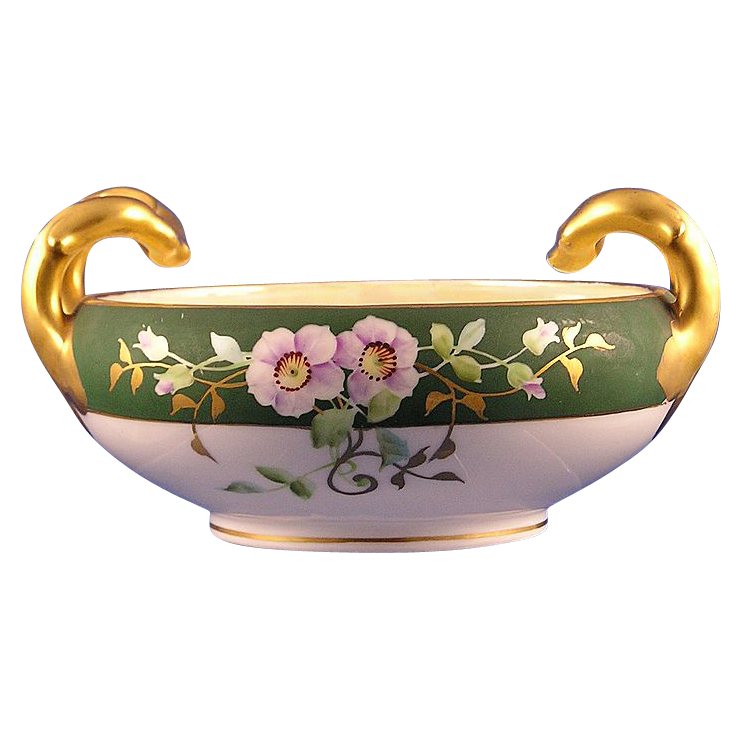 Stouffer Studios Bavarian Rose Motif Handled Bowl (c.1906-1914)