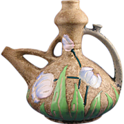 "Amphora Austria Arts & Crafts ""Florina"" Enameled Tulips Design Pitcher (c.1907-1908)"
