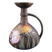 "Amphora Austria Arts & Crafts ""Florina"" Enameled Tulips Design Vase/Pitcher (c.1907-1908)"