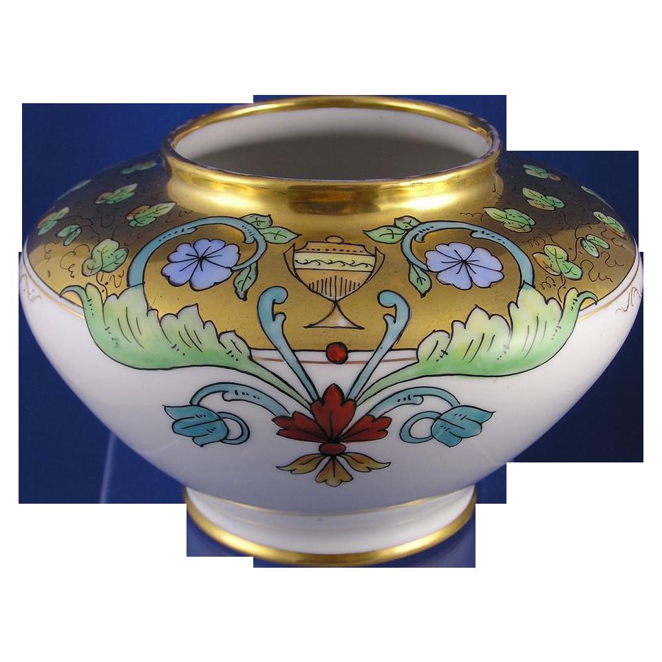 Gerard, Duffraisseix & Abbott (GDA) Limoges Stouffer Studios Art Deco Vase (Signed by Joseph Simek/c.1906-1914)