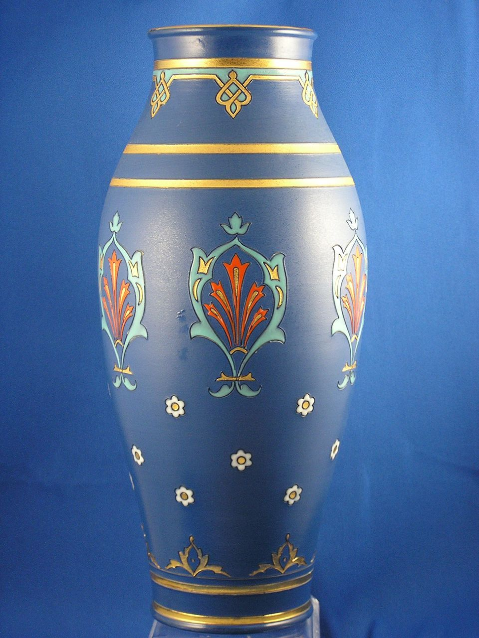 large villeroy boch mettlach germany arts crafts vase from darkflowers on ruby lane. Black Bedroom Furniture Sets. Home Design Ideas