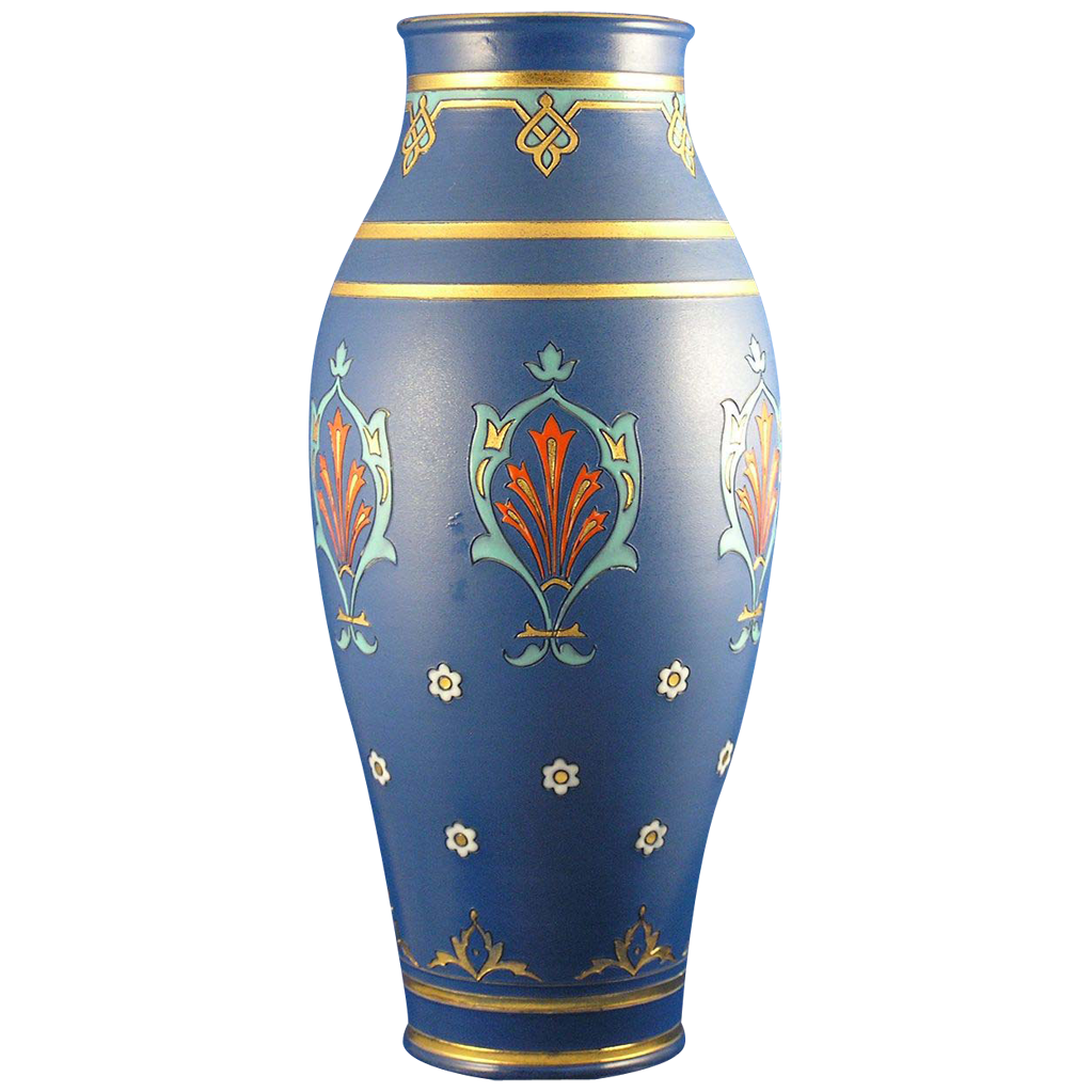 Large Villeroy & Boch Mettlach Germany Arts & Crafts Vase (c.1910)