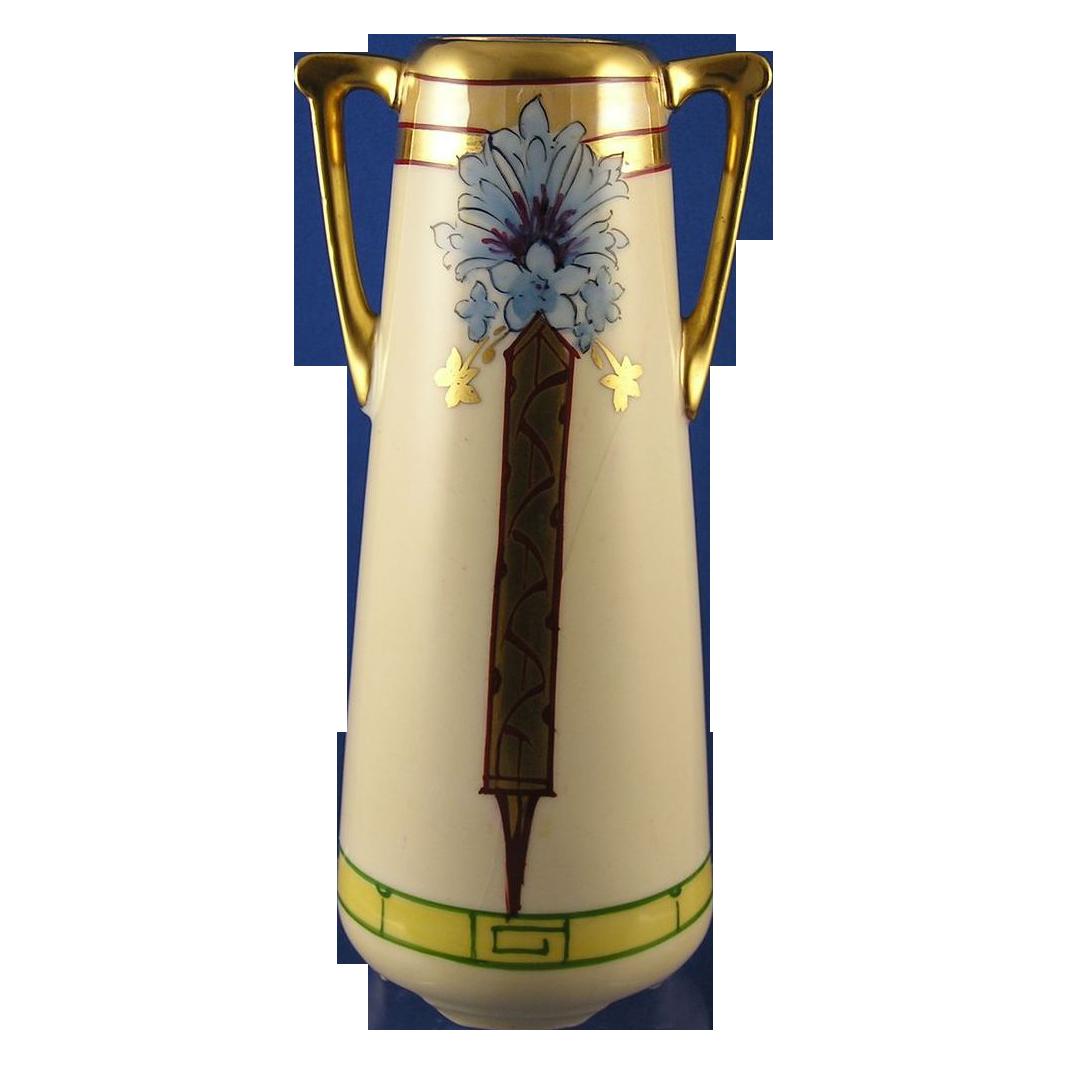 Julius H. Brauer Studio Olimpic Germany Floral Motif Vase (c.1903-1920)