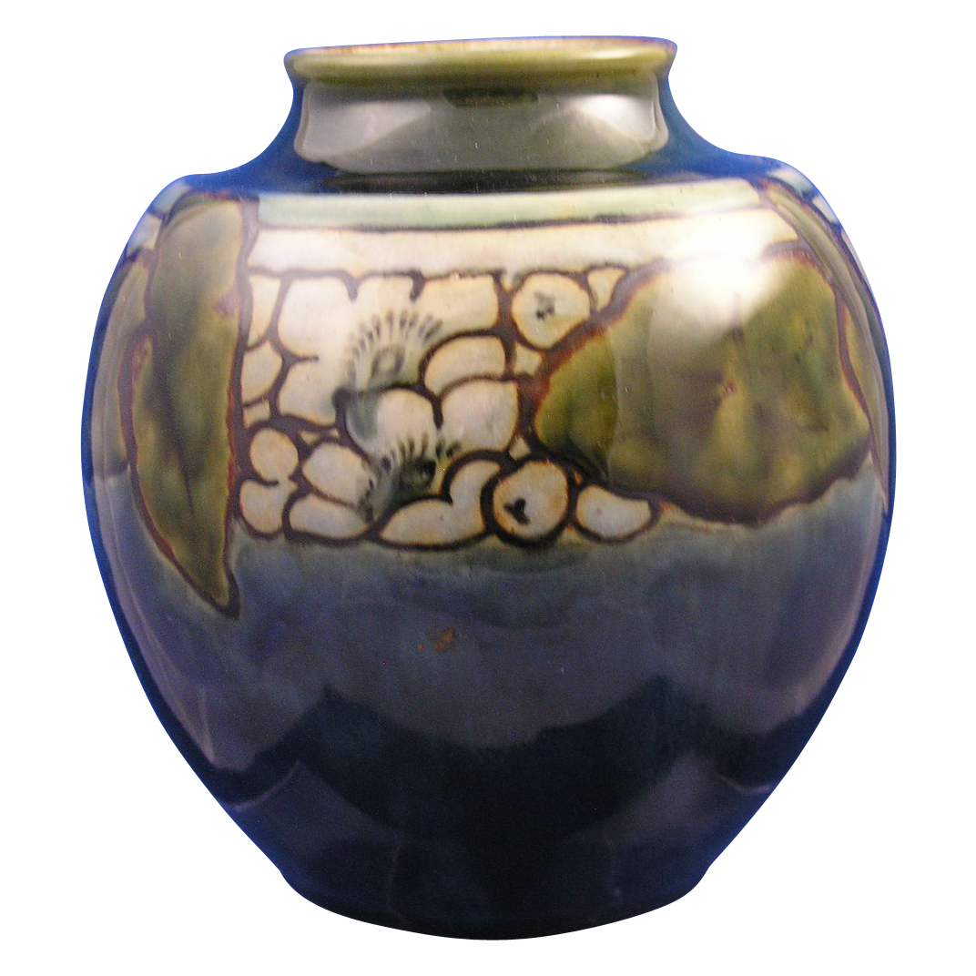 Royal Doulton Arts & Crafts Organic Motif Vase (Signed/c.1923-1927)