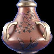 Boch Freres Keramis France Art Nouveau Leaf & Berry Motif Vase (c.1900-1930)