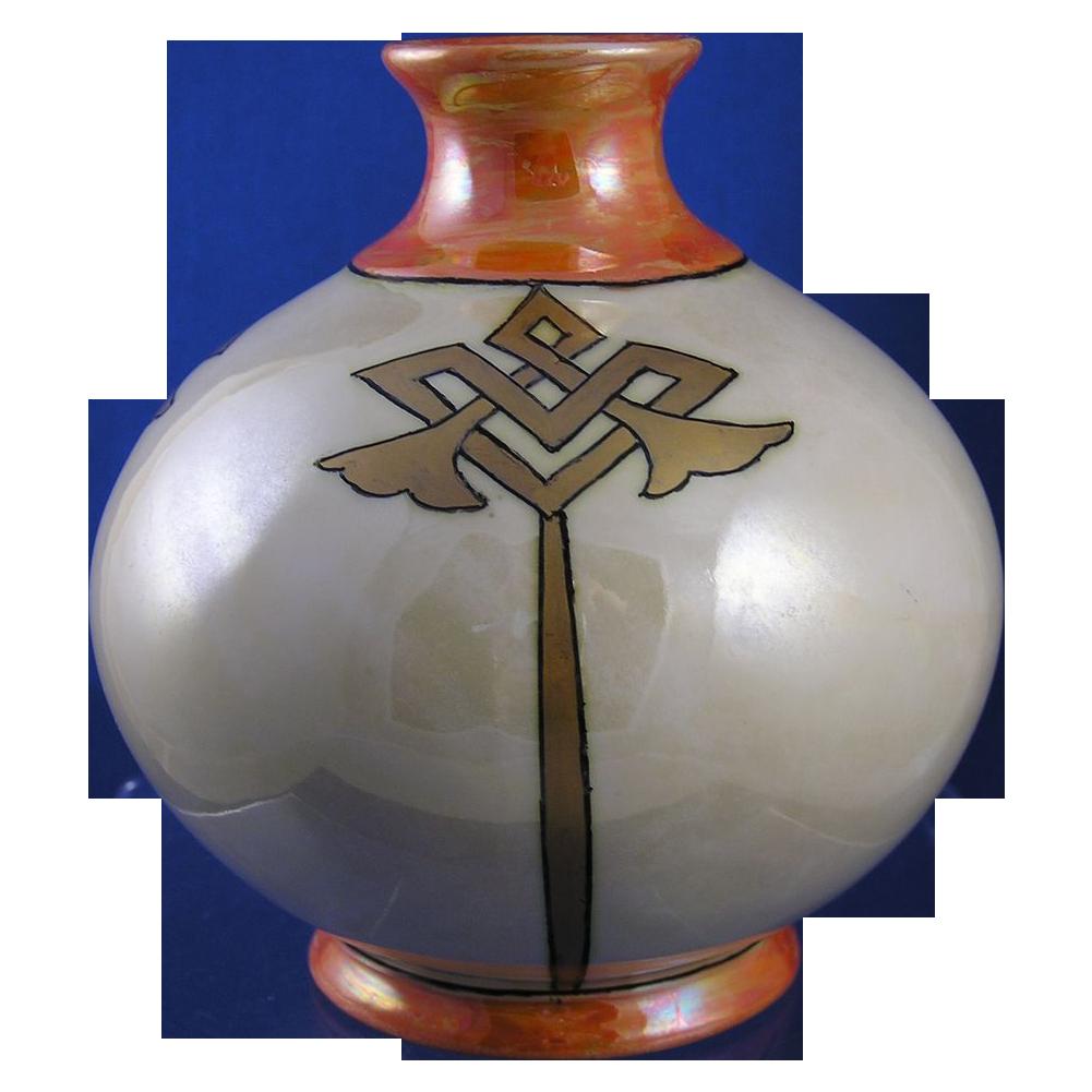Count Thun Porcelain Factory Czechoslovakia Arts & Crafts Vase (Signed/c.1918-1939)