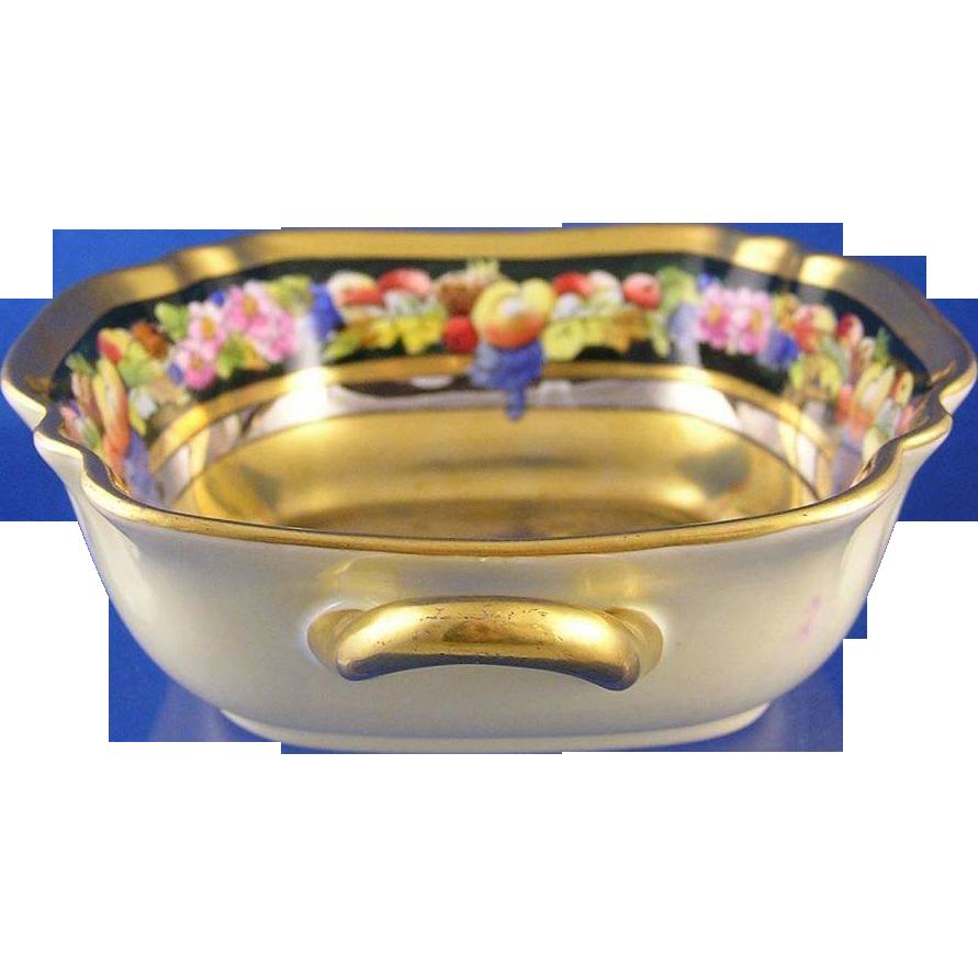 "Noritake Nippon Pickard ""Fruits Linear"" Pattern Dish (Signed ""Maxwell Rean Klipphahn""/c.1912-1918)"