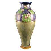 "Royal Doulton Arts & Crafts Floral Motif Vase (Signed ""LF Bowen""/c.1923-1927)"